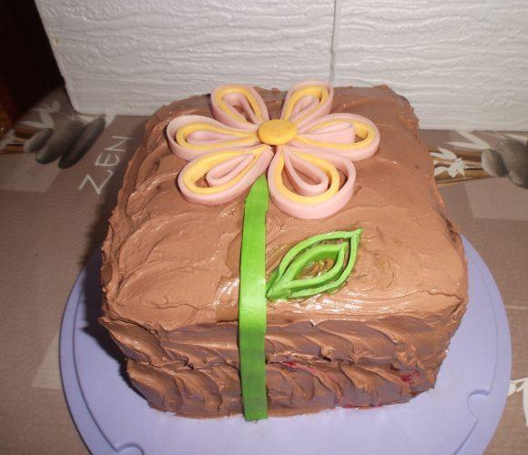 Gâteau 3 chocolats et framboises!!