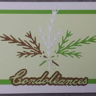 cartes condoléances branches de sapin