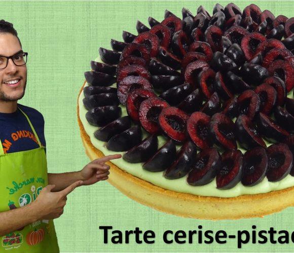 TARTE CERISE-PISTACHE