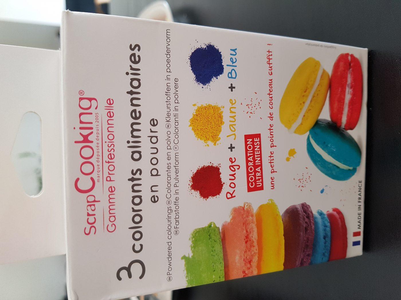 J'ai testé pour vous colorant alimentaire en poudre scrapcooking