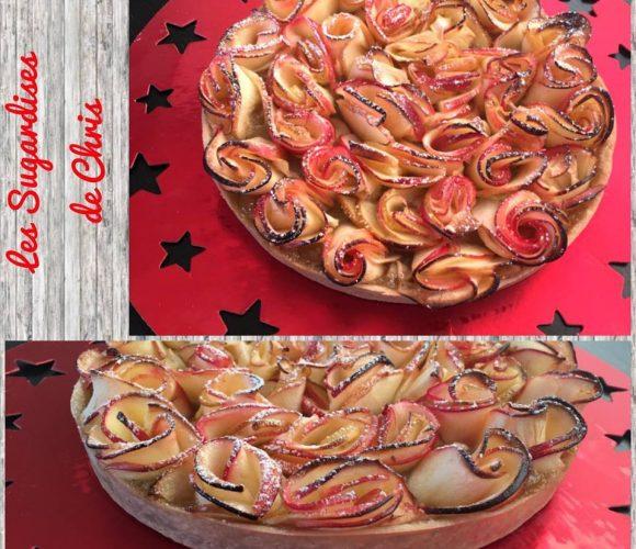 Tarte aux pommes boutons de roses