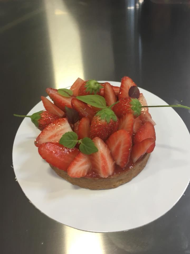 Tartelette fraises verveine