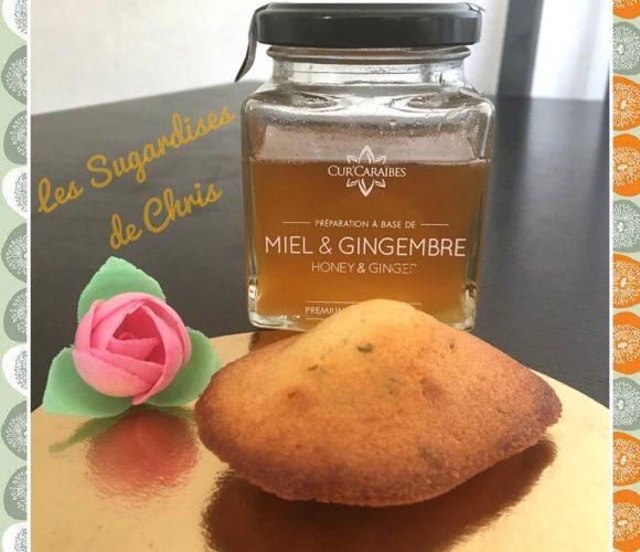 Madeleines au miel – gingembre de Cur'Caraibes et zestes de citron vert