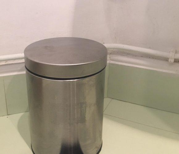 J'ai testé pour vous la poubelle de salle de bain 3L en métal brossé