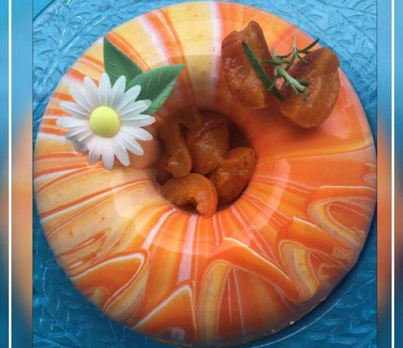 Entremet abricot romarin