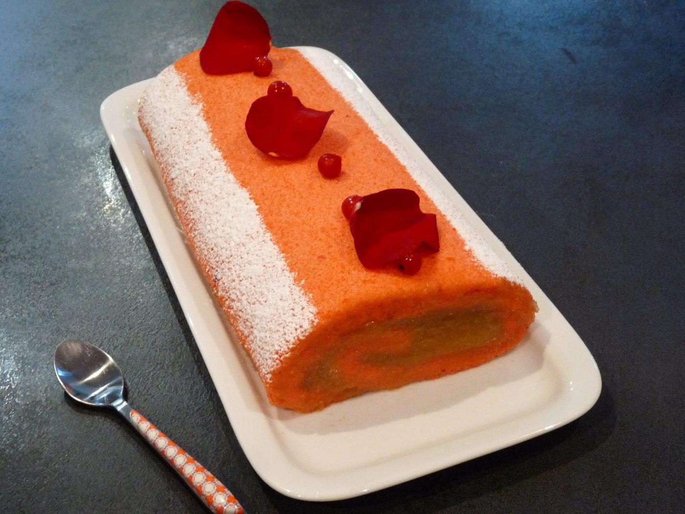 Cake roulé Coing Rose