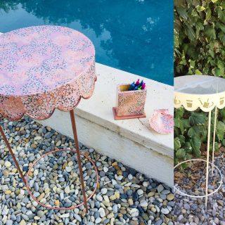 Relooking d'une table en fer forgé