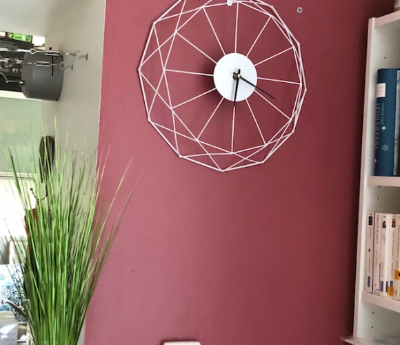 Horloge Filaire Blanche