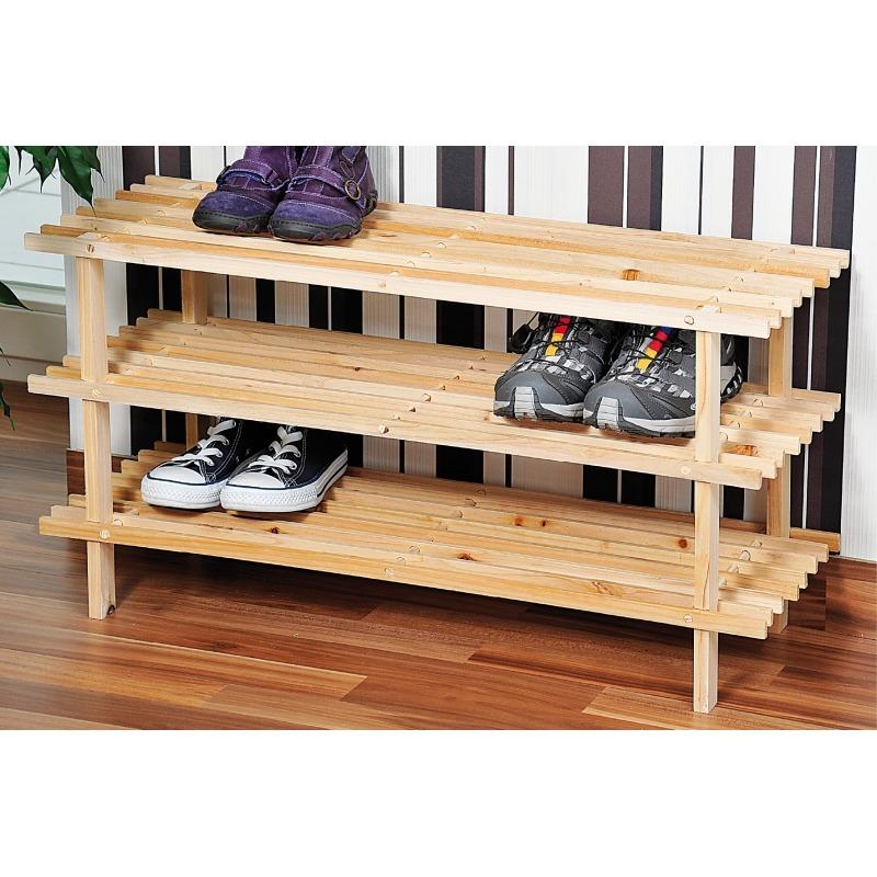 L'étagère à chaussures en pin 3 étages!!!