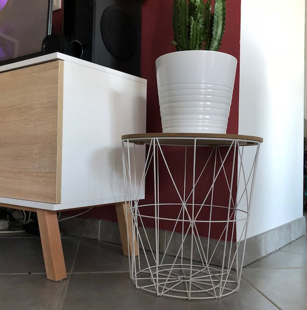 Table Basse Filaire blanche