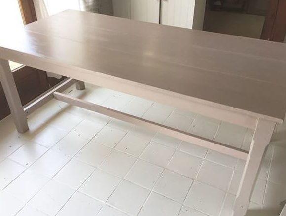 J'ai testé pour vous la peinture relook meuble satiné de MAISON DECO, bois de rose