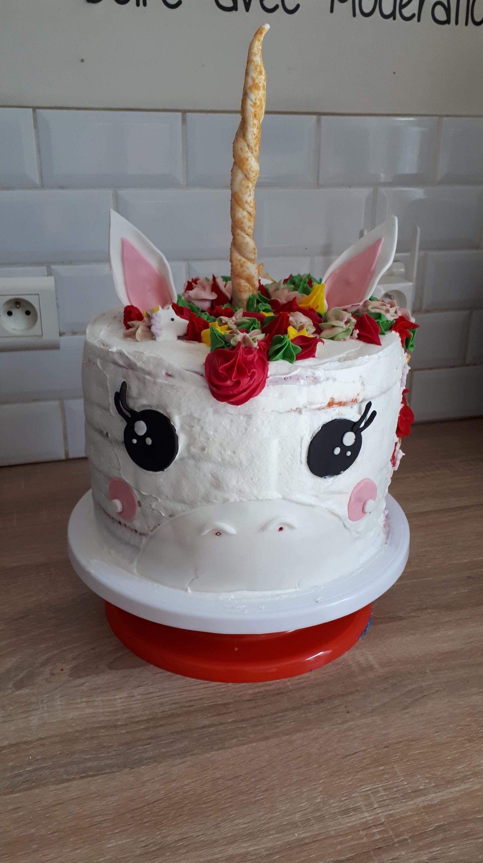 Mon rainbow cake Licorne pour les 5 ans de ma fille
