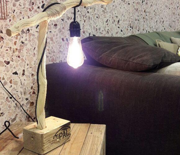 Ma lampe en bois fotté et palette !