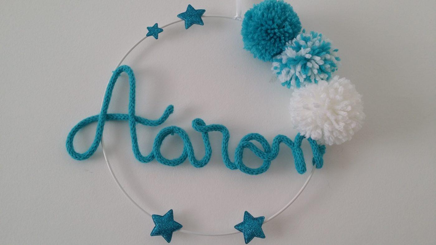Plaque prénom Aaron