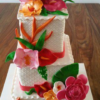 Cake design fleuri