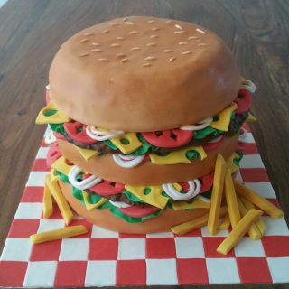 Hamburger cake design