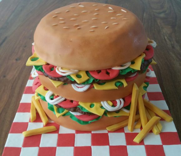 Hamburger cake design