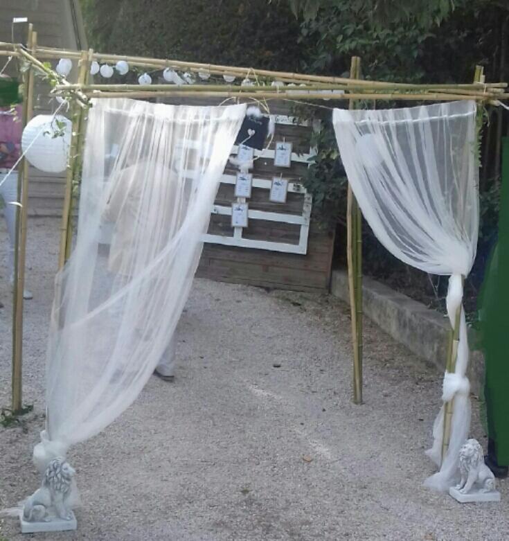 Arche d'accueil champêtre pour jeunes mariés 💗👏