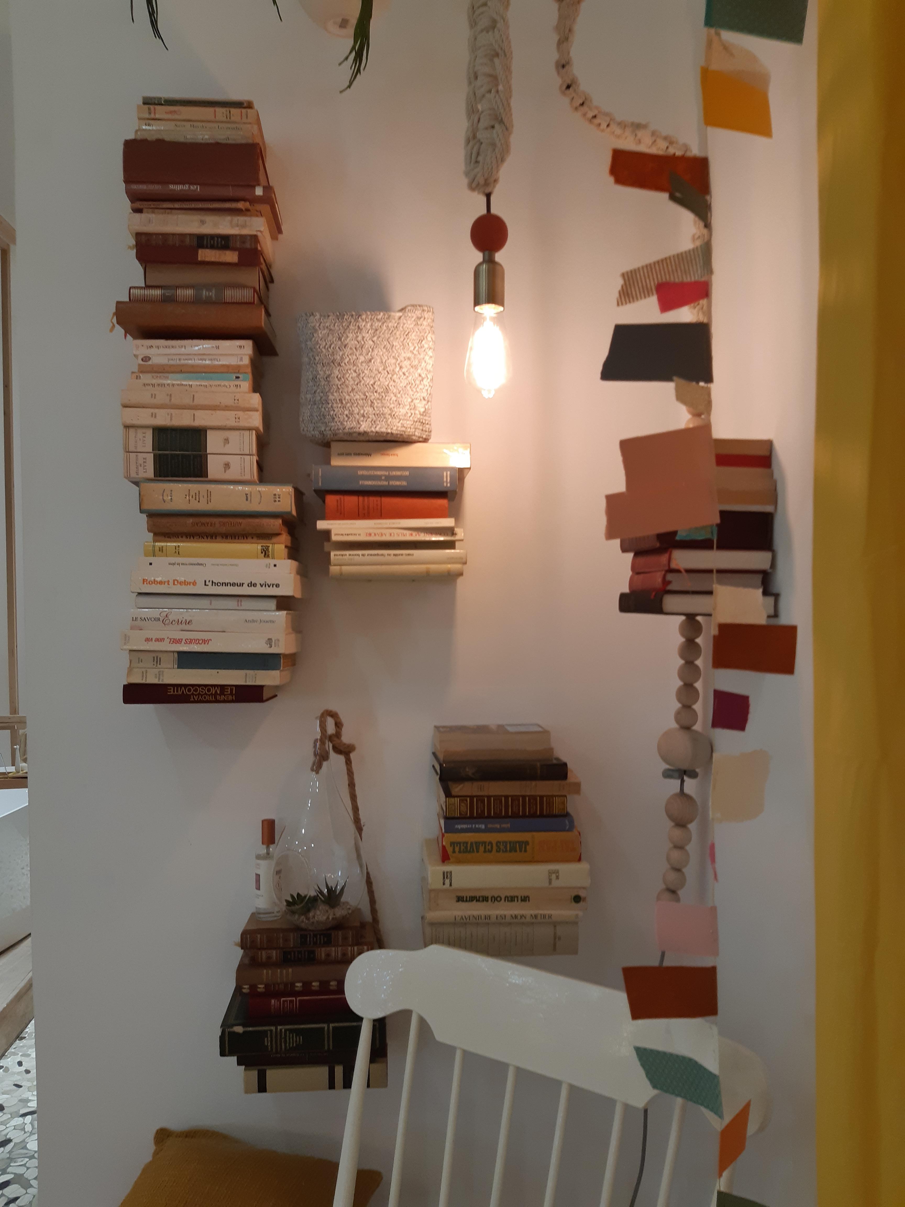 J'ai testé pour vous mon étagère de livres suspendus