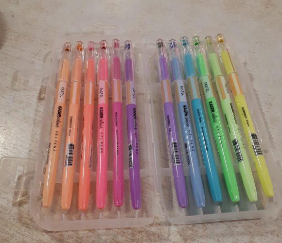 J'ai testé pour vous la boite de 12 stylos gel Pastel