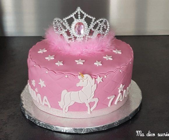 Gâteau princesse licorne