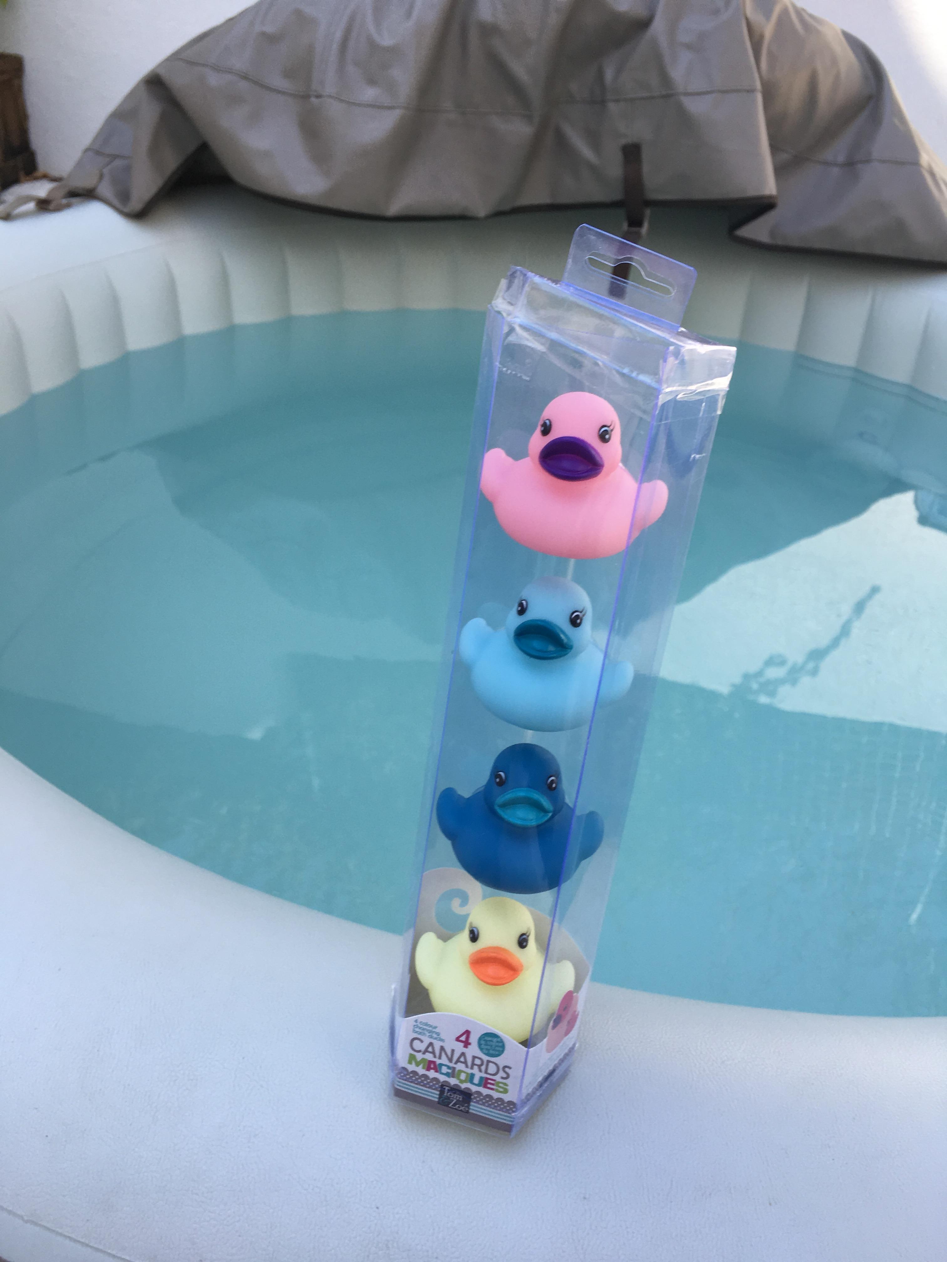 J'ai testé pour vous les canards de bain magique !