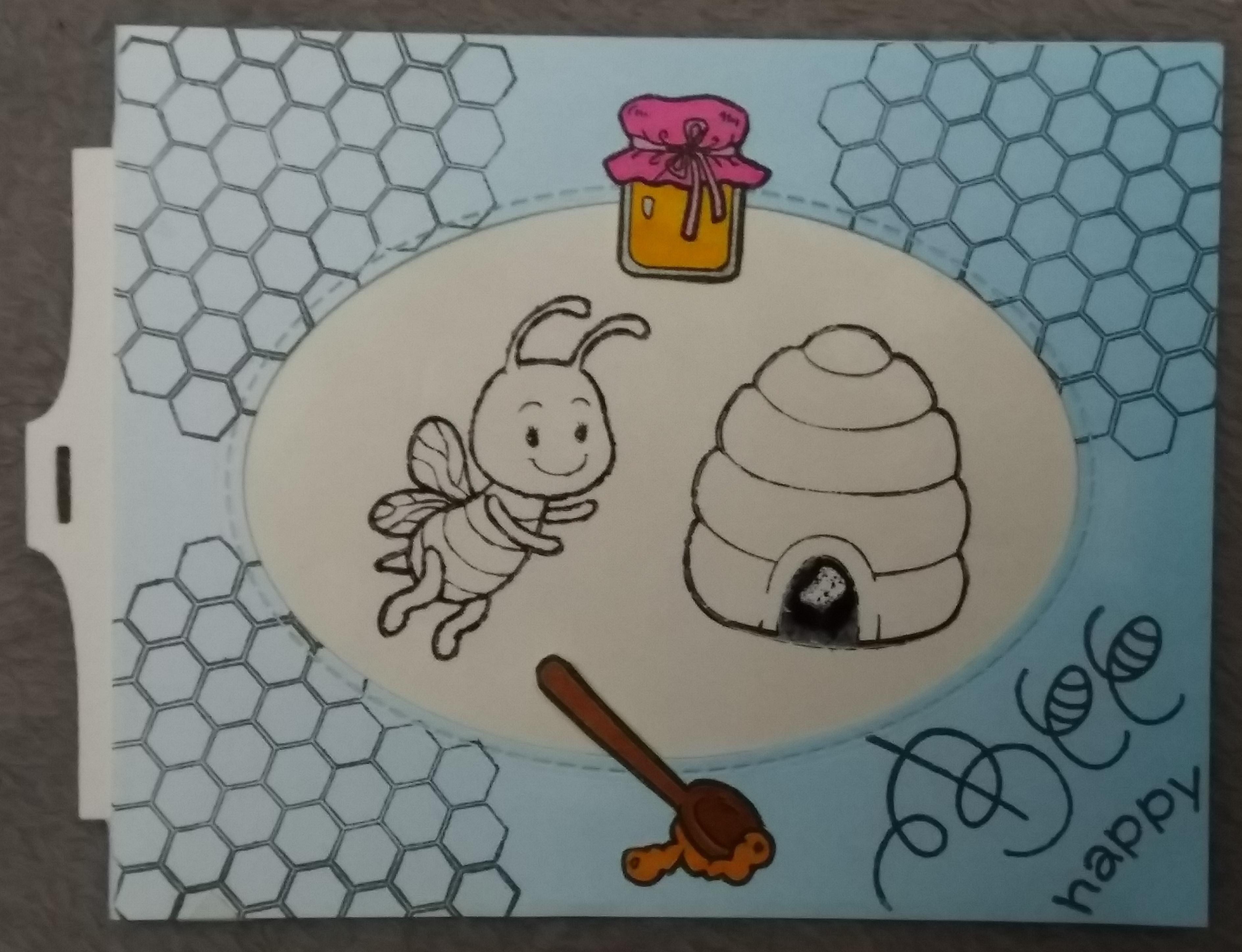 carte magique abeille
