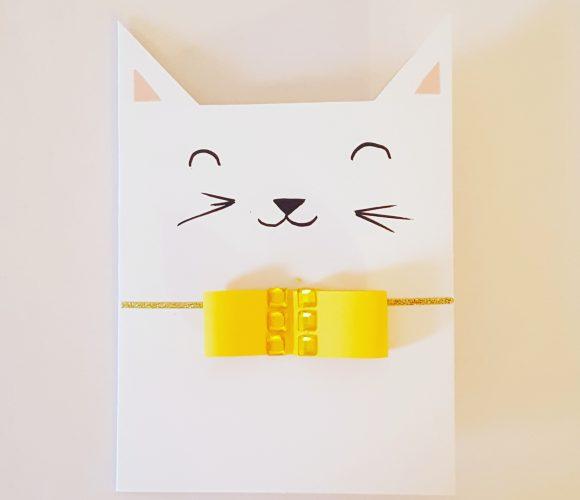 Carte de voeux chat diy