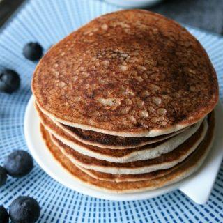 Pancakes coco {sans gluten, sans lait, sans oeufs }