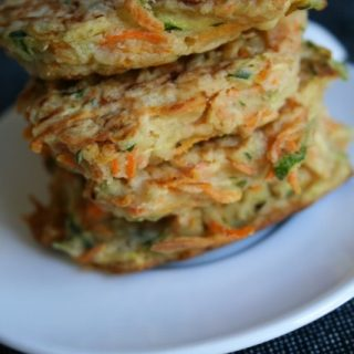Galettes courgettes-carottes
