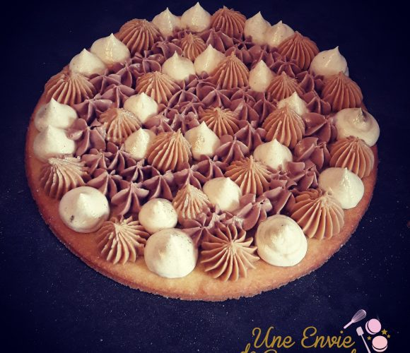 Tarte fantastik spéculoos chantilly nutella