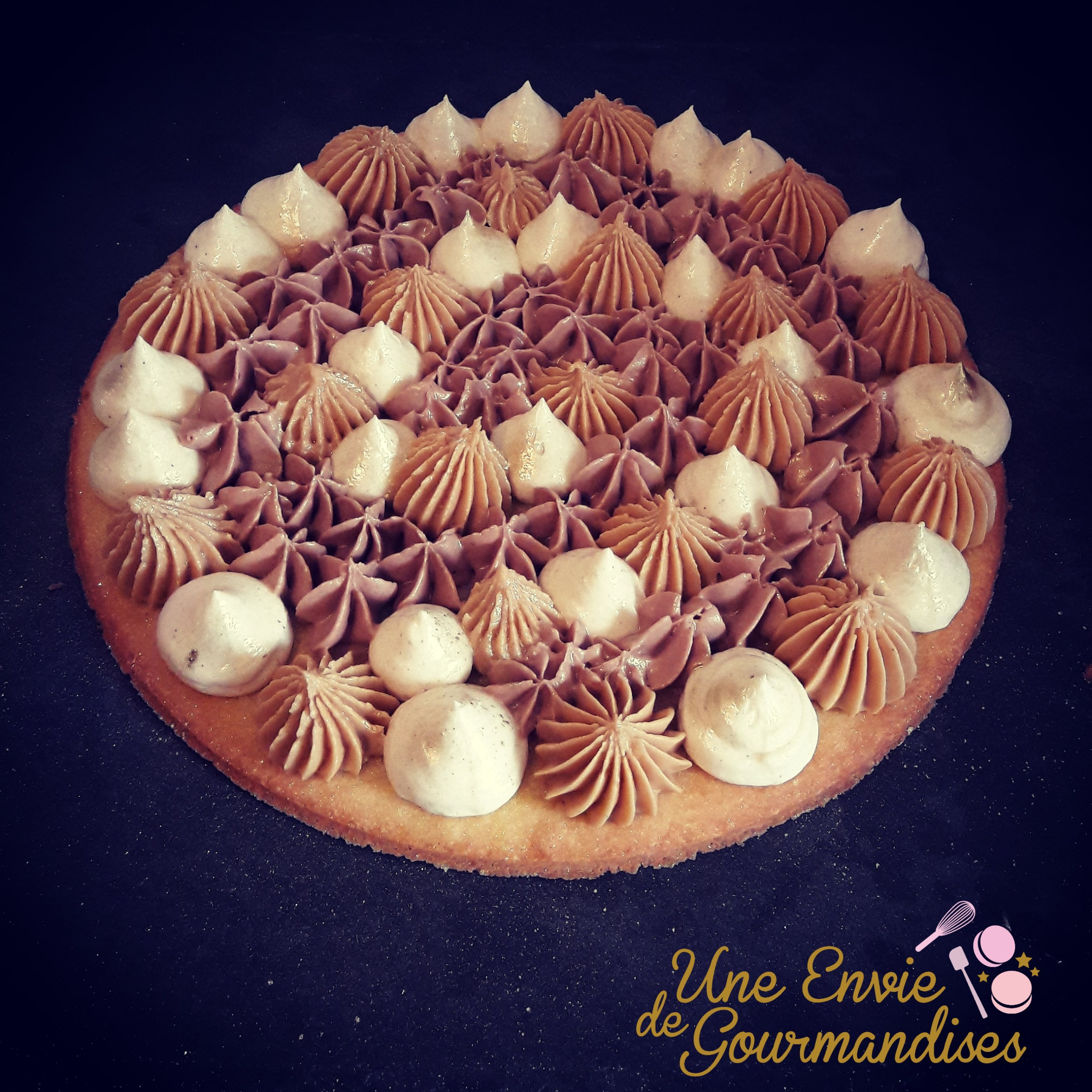 Tarte fantastik spéculoos chantilly nutella