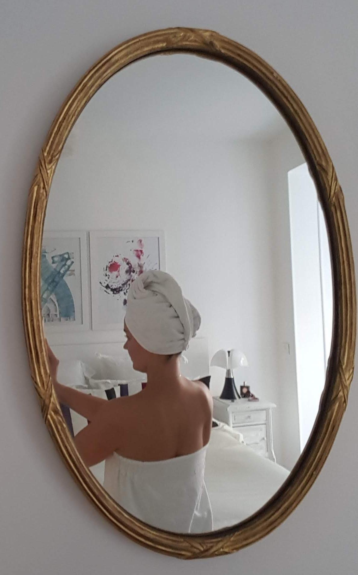 J'ai testé pour vous la serviette de sauna imprimé pois blanc Jacquard