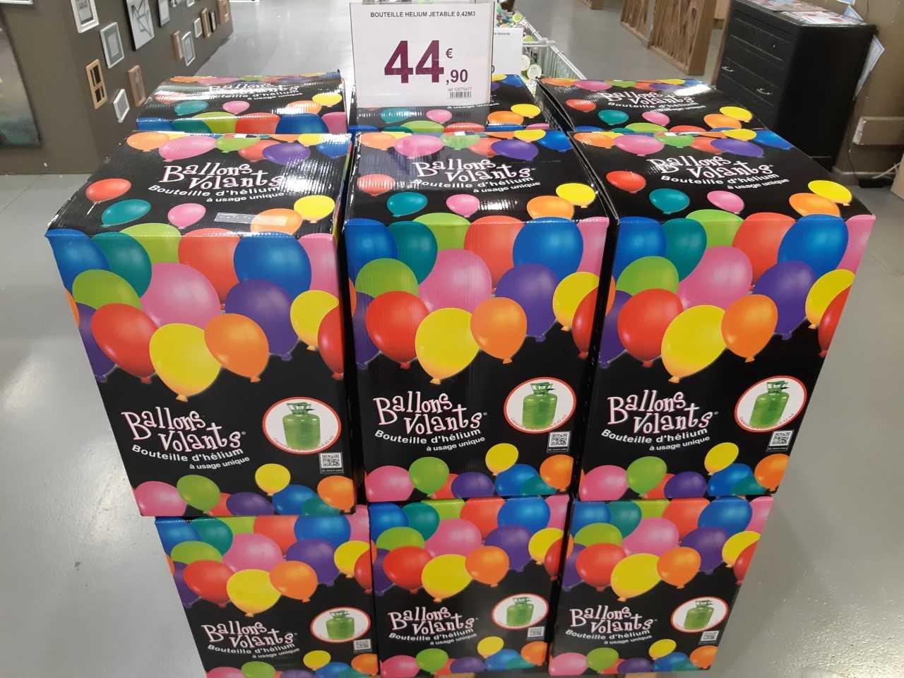 Bouteille d'hélium pour ballons volants