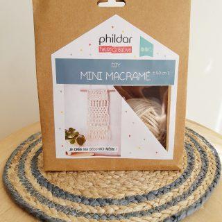 J'ai testé pour vous le kit DIY mini macramé de Phildar