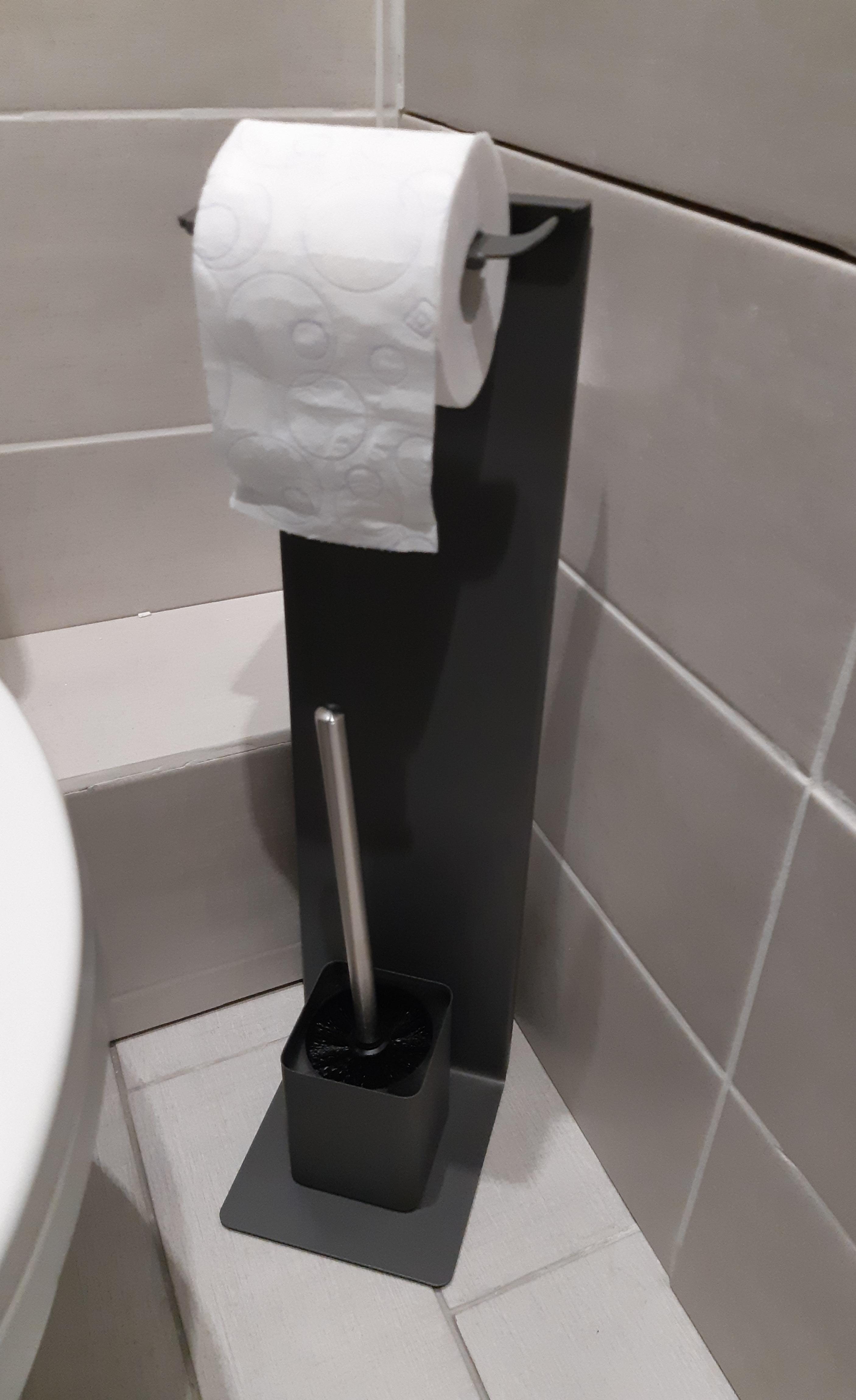 J'ai testé pour vous le serviteur wc en métal couleur zinc