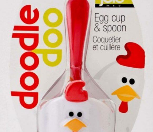 J'ai choisi le coquetier poule Doodle Doo et sa cuillère