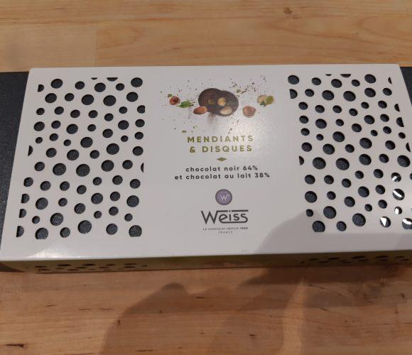J'ai testé pour vous le coffret Mendiants et Disques en chocolat de «Weiss»