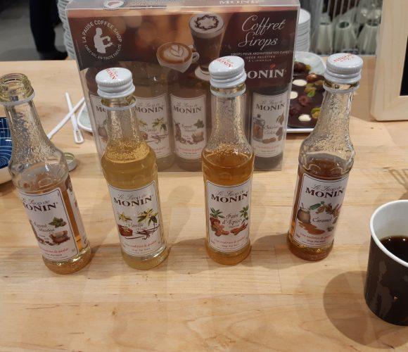 J'ai testé pour vous le Coffret Sirops pour cafés aromatisés «Monin»