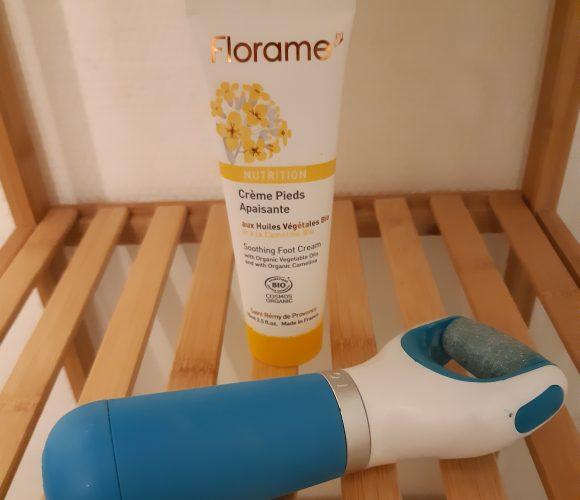 J'ai testé pour vous la crème apaisante et nutrition pour les pieds «Florame» aux huiles végétales Bio 75ml.