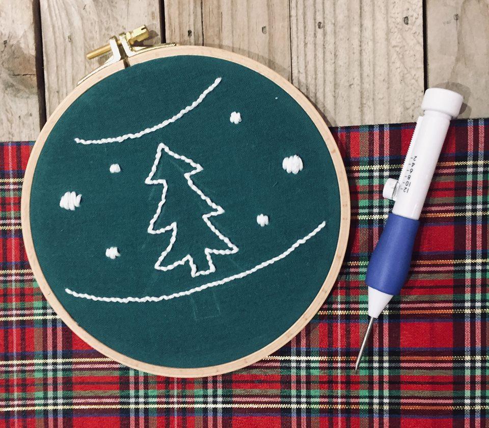 Ma broderie de Noël au punch needle!