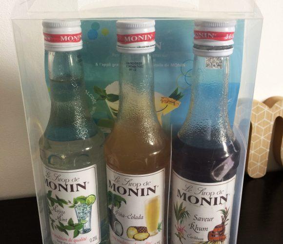 J'ai testé pour vous le coffret de sirops Monin pour cocktails