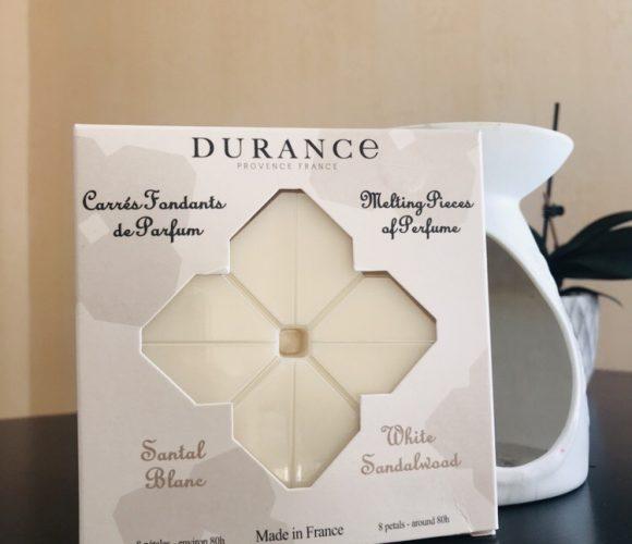 J'ai testé pour vous carré fondant Santal Blanc de chez Durance