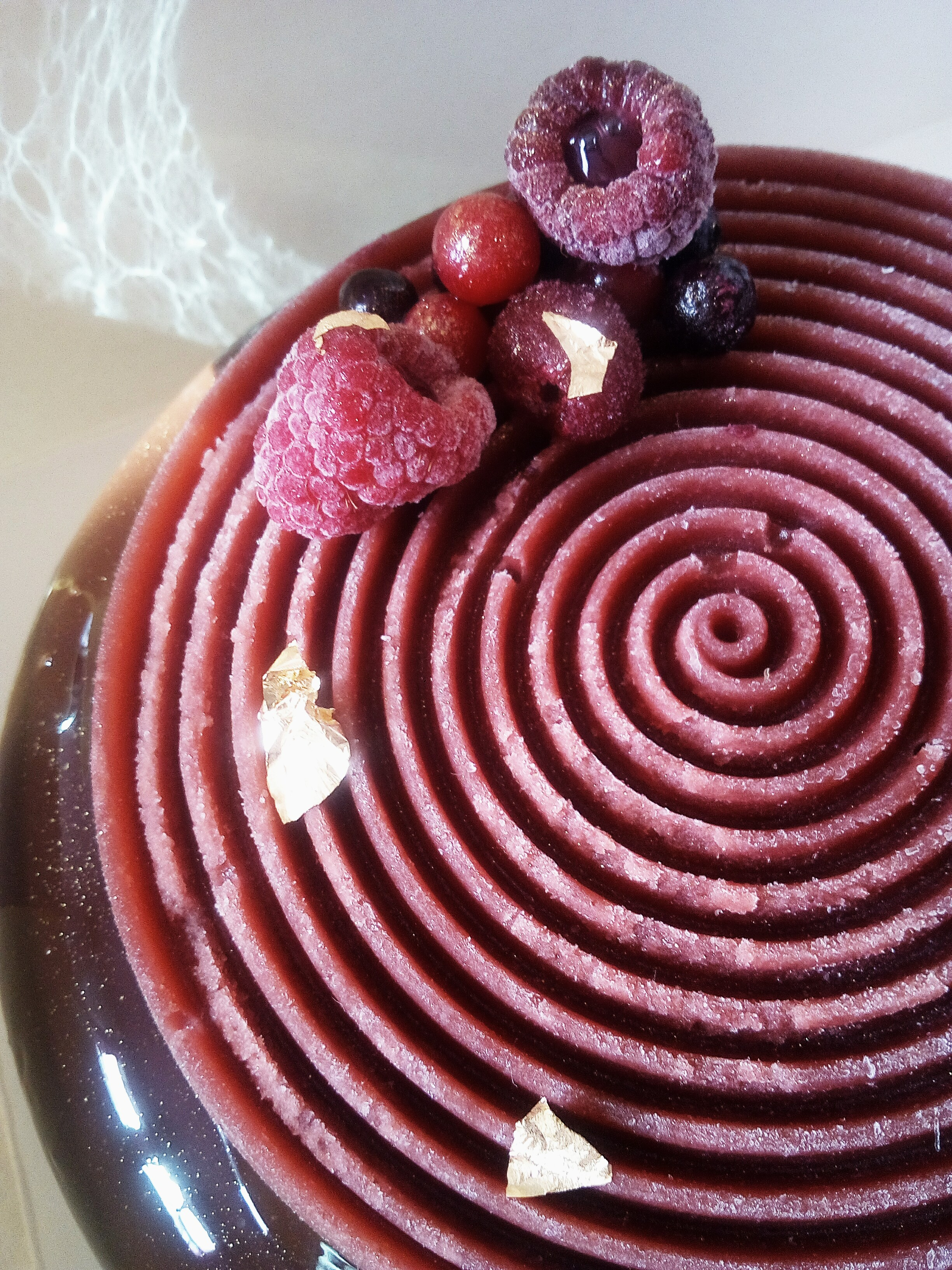Entremet chocolat fruits rouges !!