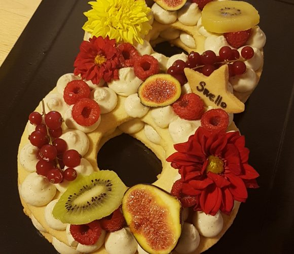 Number cake aux fruits