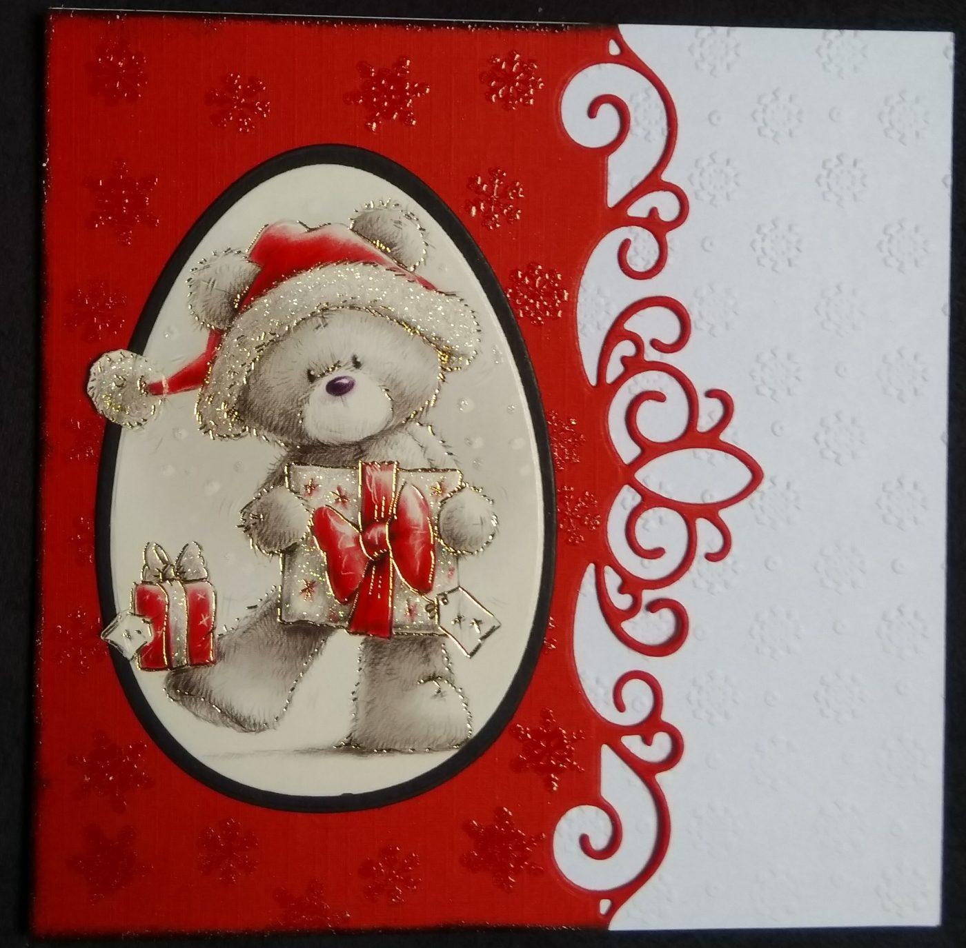 Carte ourson de Noël