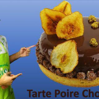 TARTE ENTREMET POIRE CHOCOLAT
