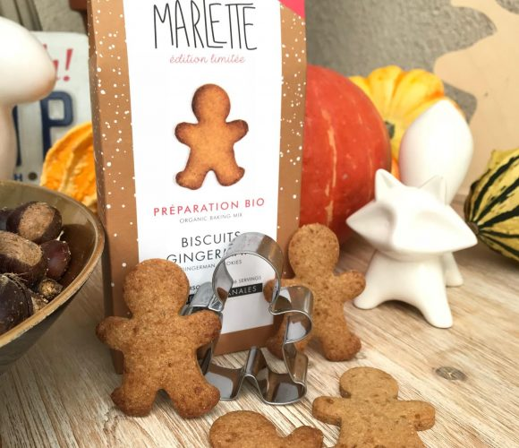 J'ai testé pour vous la préparation bio pour biscuit Gingerman avec emporte pièce de chez Marlette