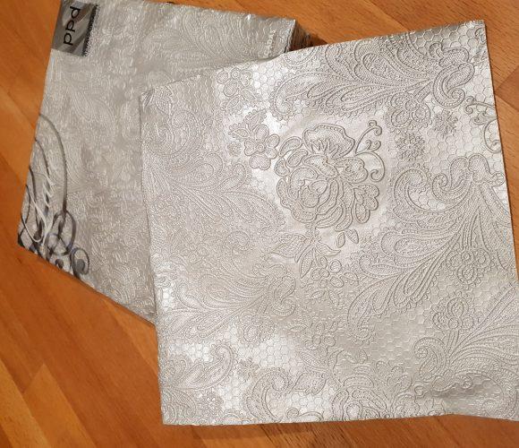J'ai testé pour vous serviettes Lace embossed silver