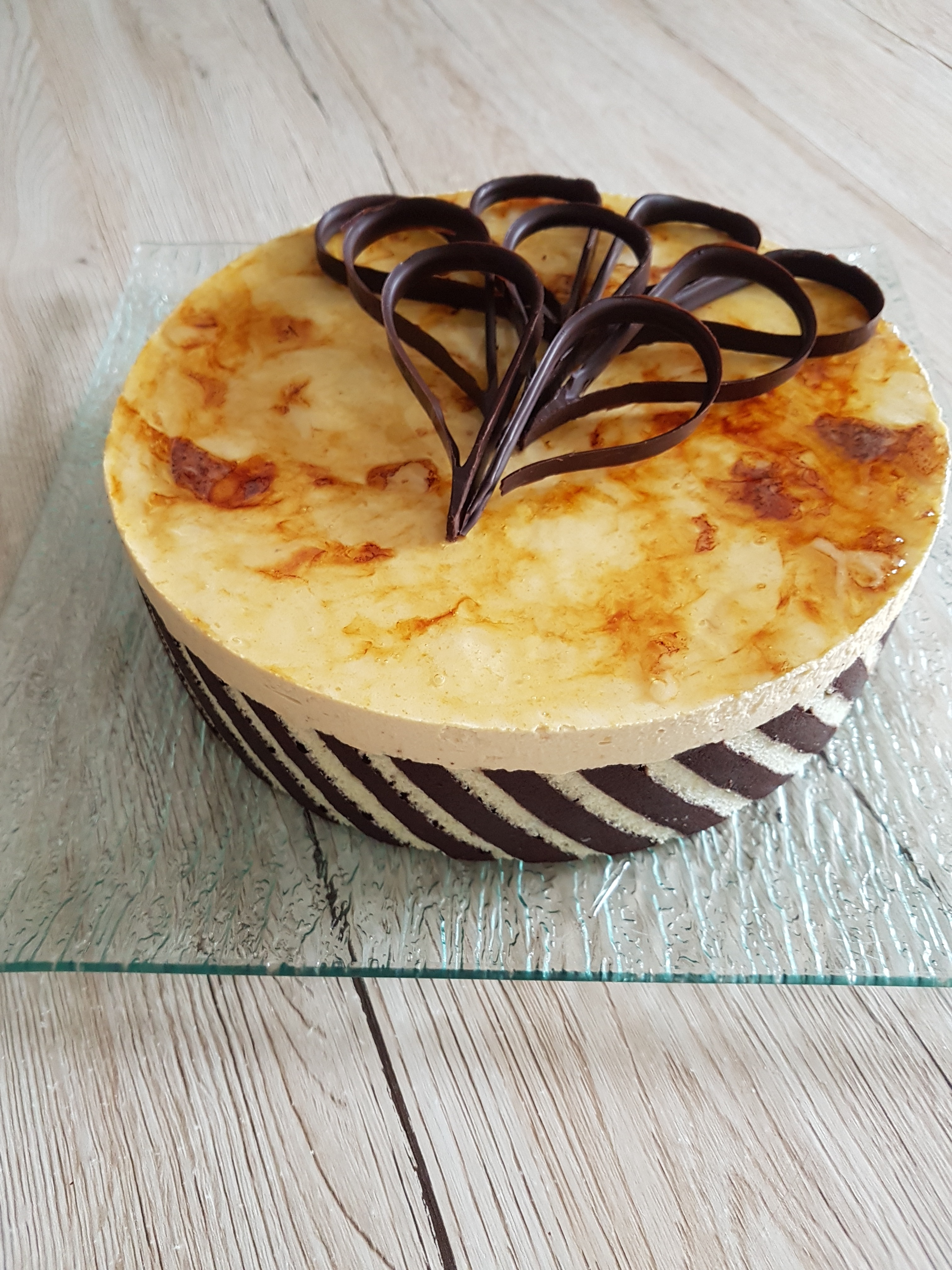 Gâteau chocolat poire caramel.